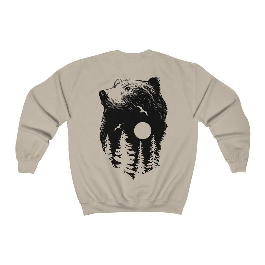 Moonbear on back // Sweatshirt