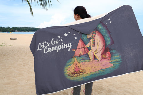 Let's Go Camping // Hooded Blanket