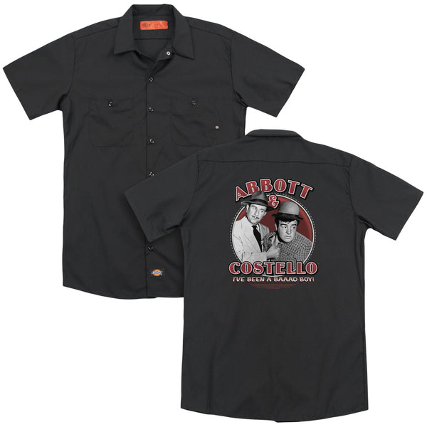 Abbott & Costello - Bad Boy (Back Print) Adult Work Shirt