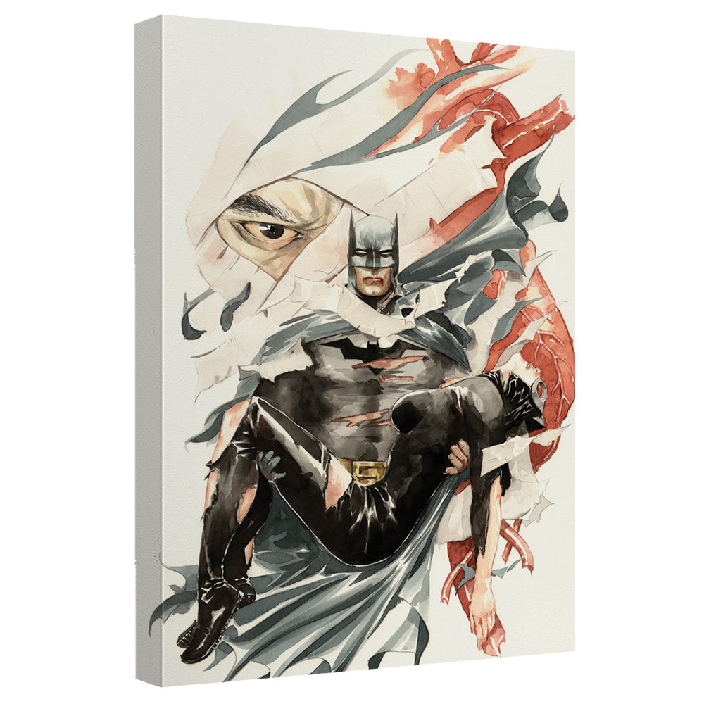Batman - Carrying Catwoman Canvas Wall Art With Back Board
