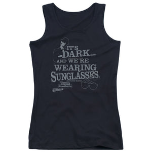 Blues Brothers - Its Dark Juniors Tank Top