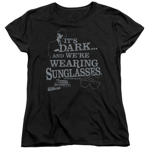 Blues Brothers - Its Dark Short Sleeve Women's Tee