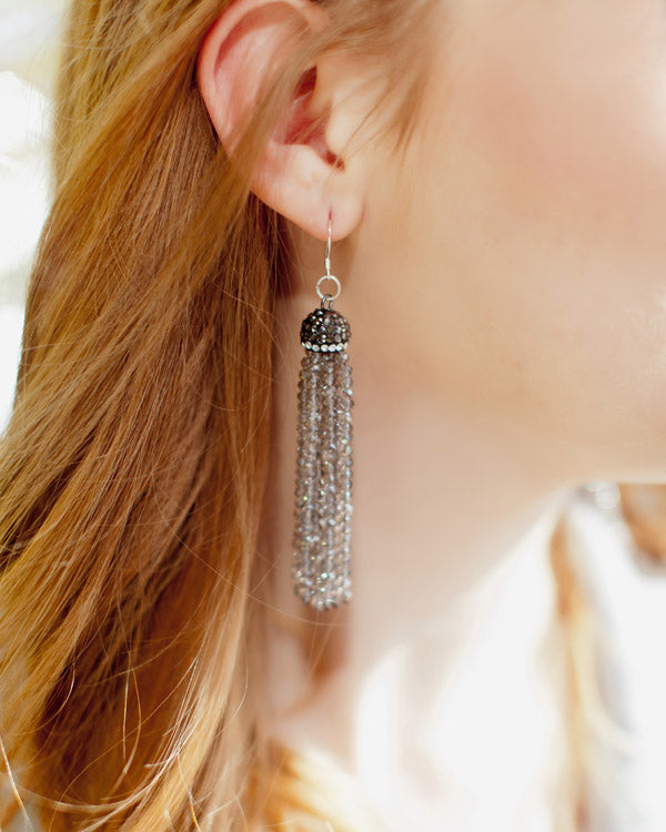 Glitter Tassel Earrings