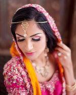 Rose Gold Tone Bridal Tikka