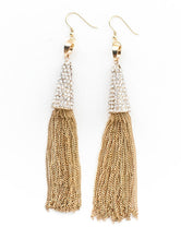 Gold Chandelier Tassel Earrings
