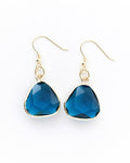 Seas of Love - Jaded Sapphire Glass Earrings