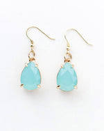 Ethereal Beauty - Seafoam and Gold Earrings