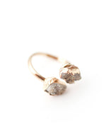 Crystal Gold Tone Ring