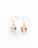 Sparkling Peach and Gold Earrings