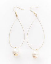 Infinity - Delicate Loop Pearl Earrings