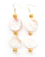 Ocean Love - Pearlescent Shell Disc Earrings