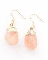 The Grace Earring - Peach Stone Drop Earrings