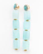 The Mermaid - Aqua Quartzite Earrings