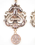 Palace Earring - Vintage Rose Gold Tone Bridal Earrings