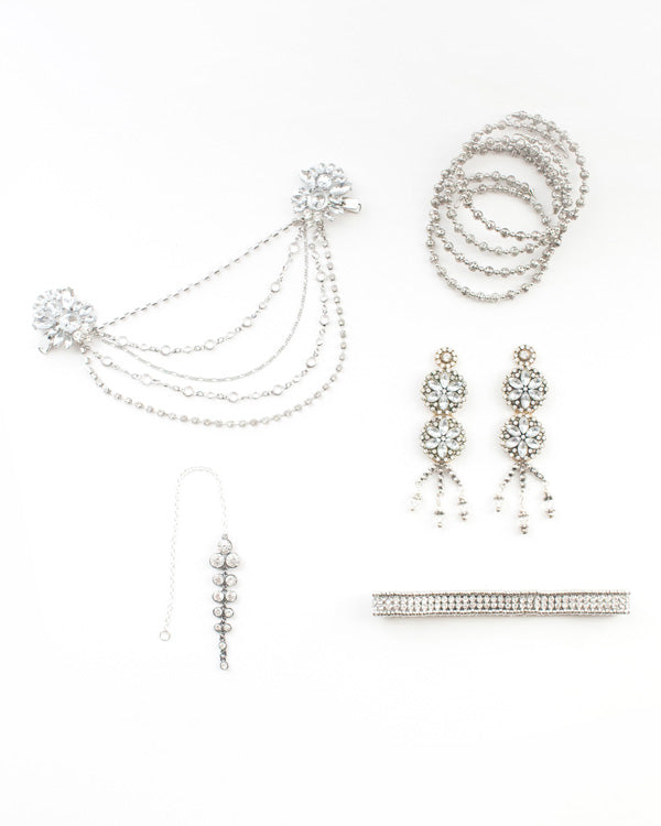 Crystal Collection Silver Earrings