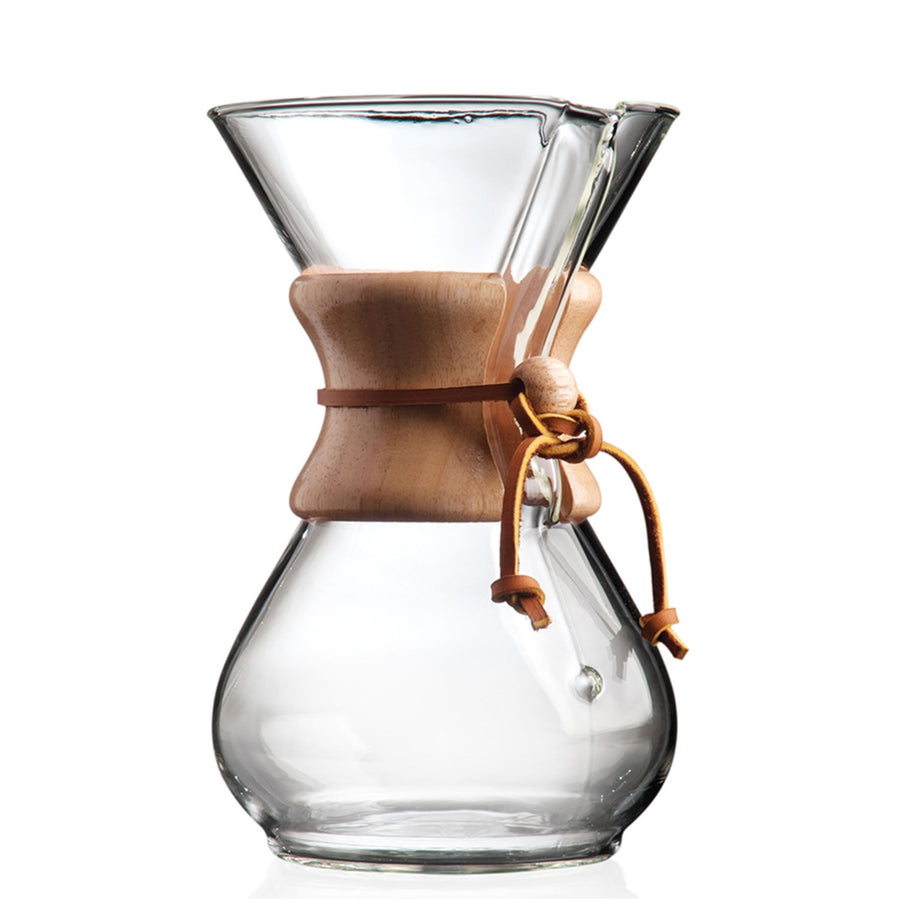 8oz Glass Chemex Coffee Maker On A White Background