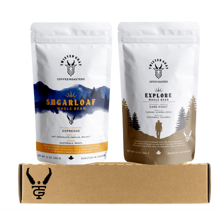 2 16oz Coffee Bags for Coffee Subscription Canada By Twisted Goat Coffee