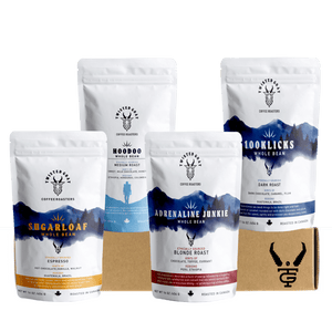 4 16oz Coffee Bags for a Coffee Subscription Canada by Twisted Goat Coffee