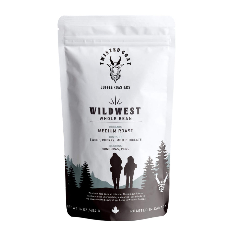 A 16oz Bag Of Medium Roast Coffee Beans From Twisted Goat Coffee