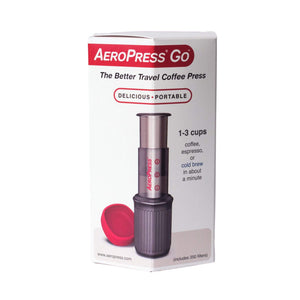 Aeropress Coffee Press Starter Kit Box On A White Background