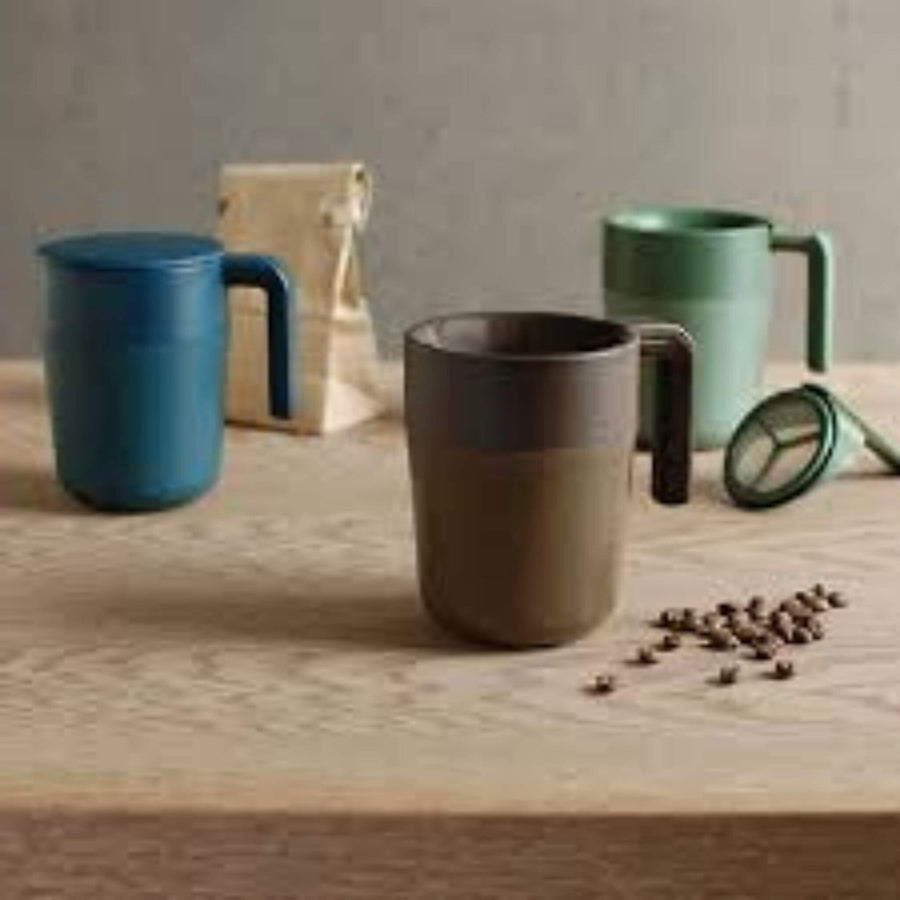 Kinto Coffee Press Mug, Coffee Beans