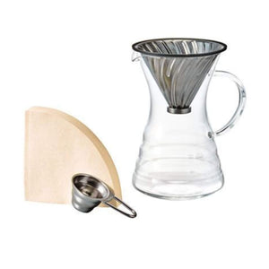 Front View Of Hario Pour Over Coffee Kit