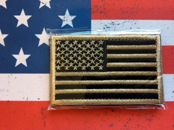 us flag black gold