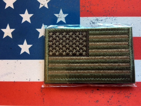 us flag green tan