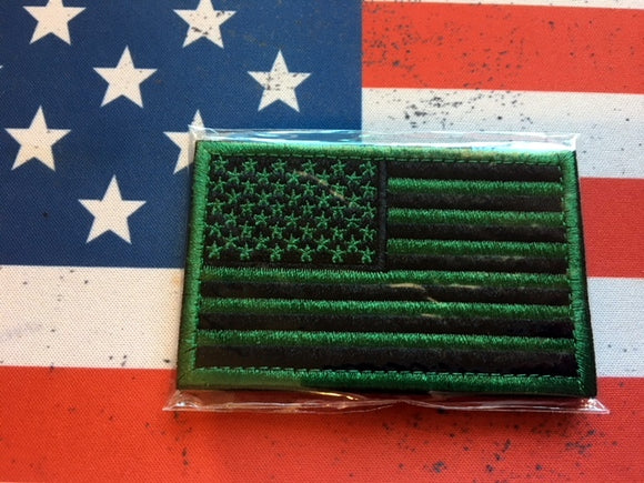 us flag neon green black
