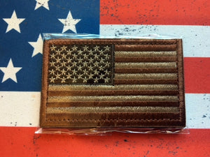 us flag brown tan