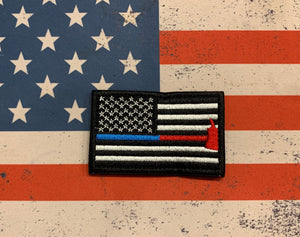 Tactical Patch - US Flag Police/Fire