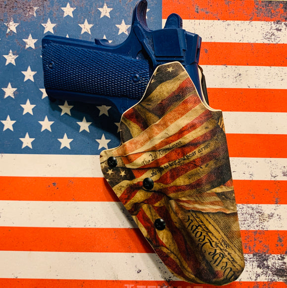 Custom Kydex OWB Holster for the 1911 (WE THE PEOPLE)