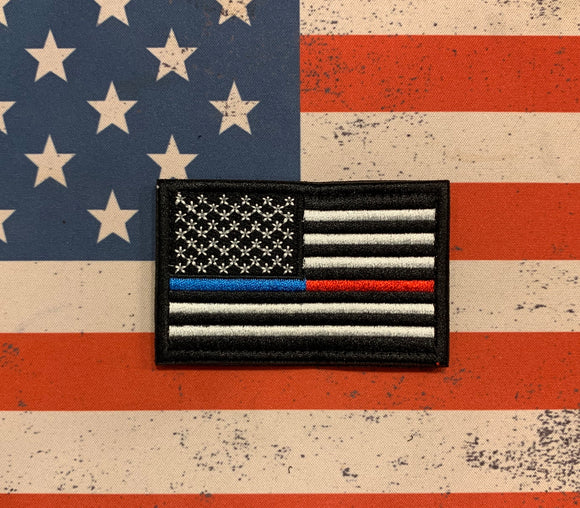 Tactical Patch - US Flag Fire/Police