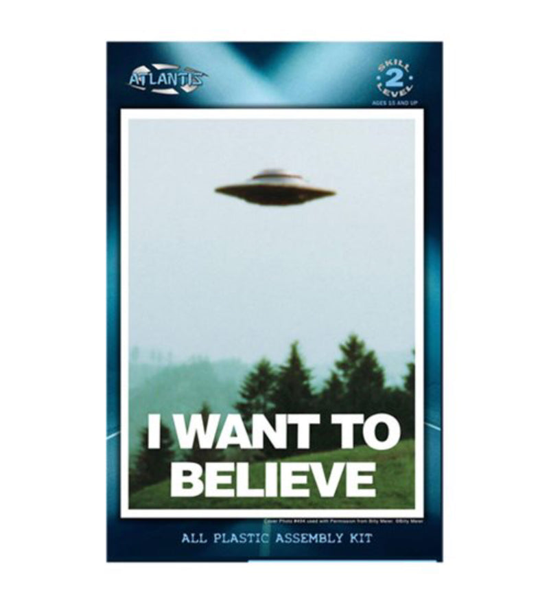 I Want to Believe UFO 5-inch Model Kit with Light