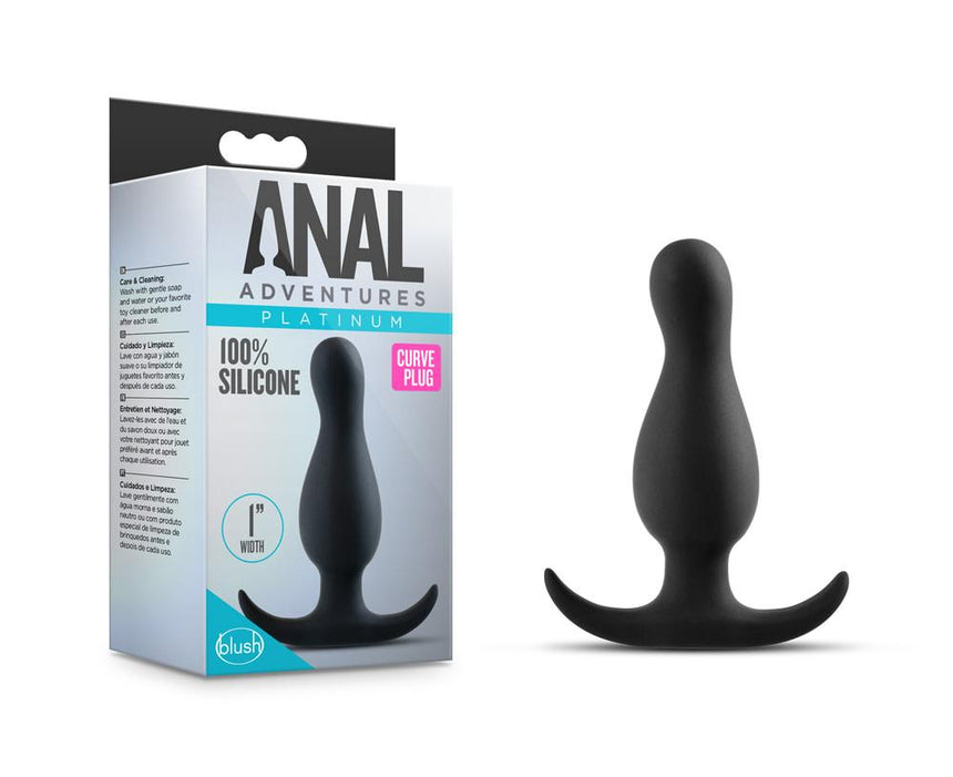 Anal Adventures Platinum - Curve Plug - Black