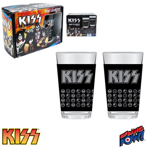 KISS 16 oz. Glass Set of 2