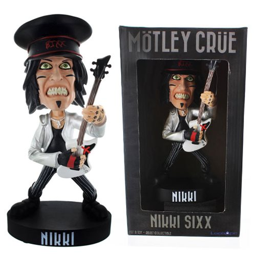 Motley Crue Nikki Sixx Exclusive Hat Version Bobble Head