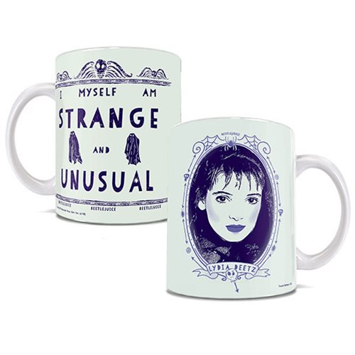 Beetlejuice Strange and Unusual 11 oz. White Ceramic Mug