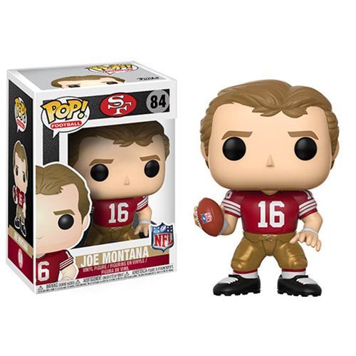 NFL Legends Joe Montana 49ers Home Pop! Vinyl Figure #84