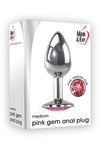 Pink Gem Anal Plug- Medium