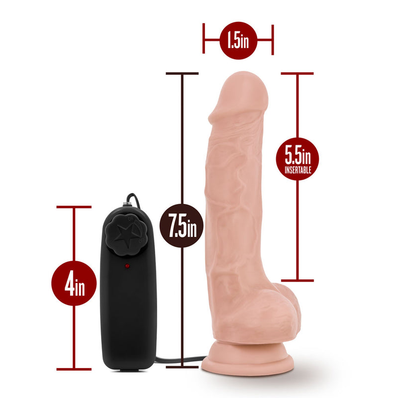 Dr. Skin - Dr. Tim - 7.5 Inch Vibrating Cock With  Suction Cup - Vanilla