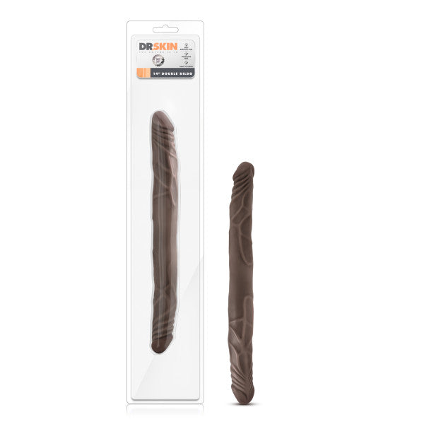 Dr. Skin - 14 Inch Double Dildo - Chocolate