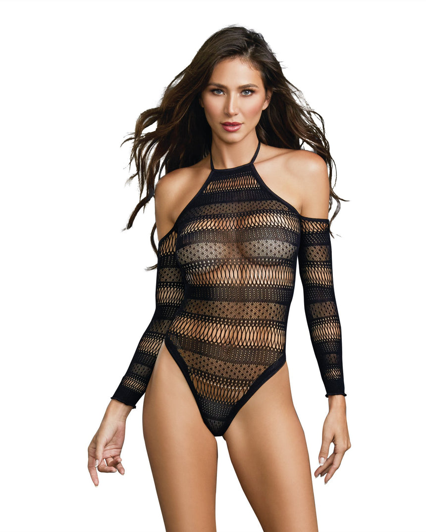Seamless Bodysuit - One Size - Black