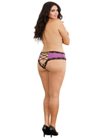Open Back Panty - 2x - Iris- Black