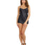 Robe, Chemise, Padded Hanger - Small - Black