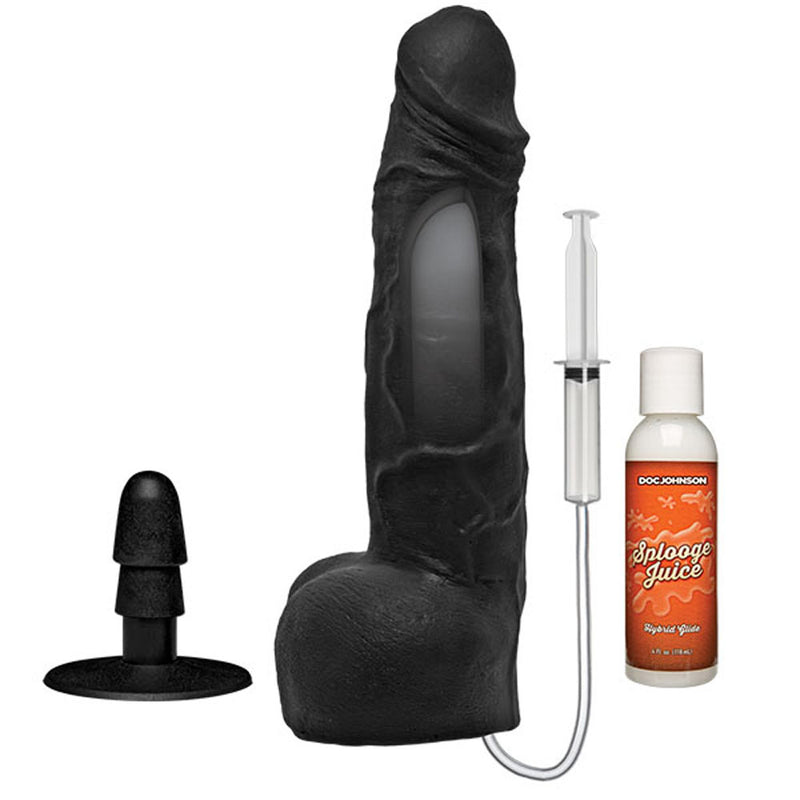 Kink - Wet Works - 10 Inch Dual Density Ultraskyn Squirting Cumplay Cock With Removable Vac-U-Lock Suction Cup