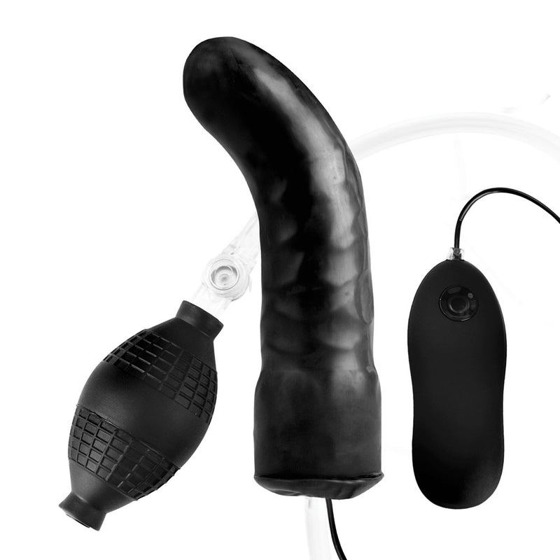 "Lux Fetish 6"" Inflatable Vibrating Dildo"