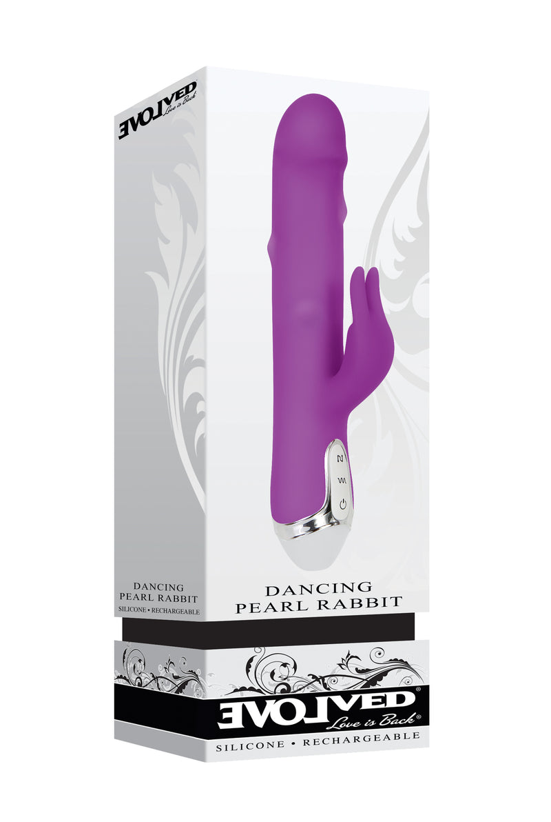 Dancing Pearl Rabbit Vibrator - Purple