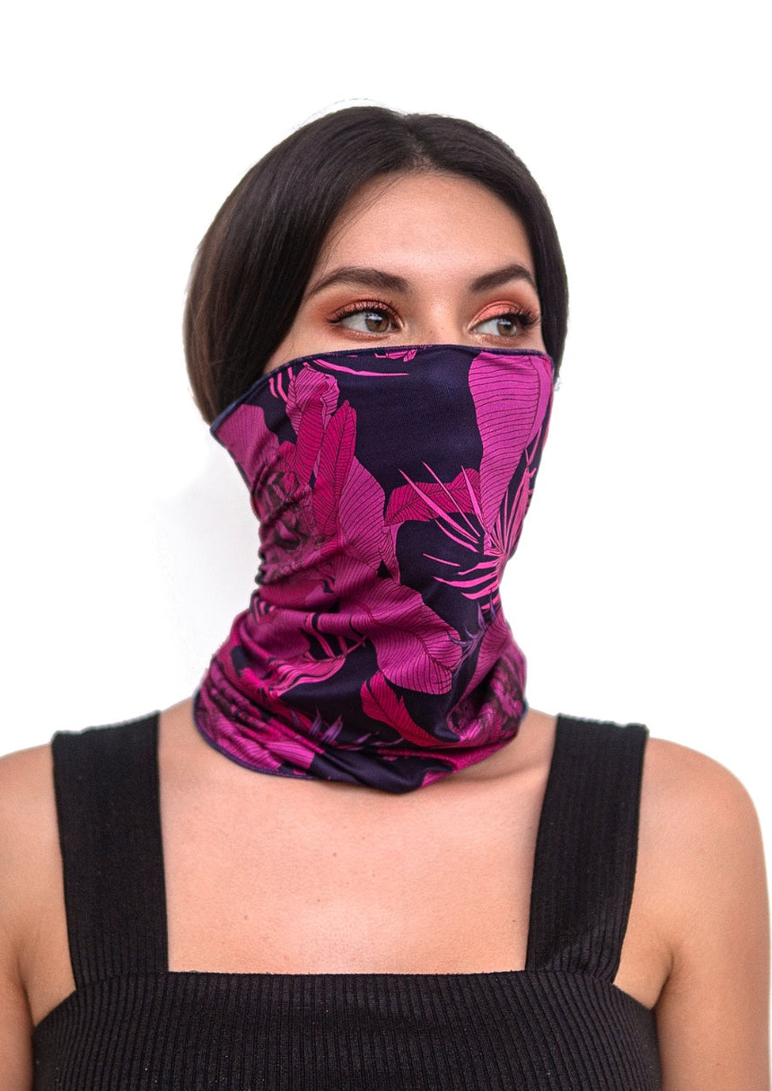 Face- Neck Bandana - Floral Print - One Size