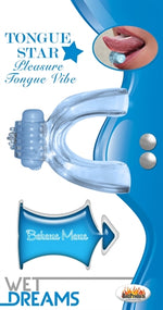 Tongue Star Tongue Vibe Blue With 10 ml Liqiour Lube